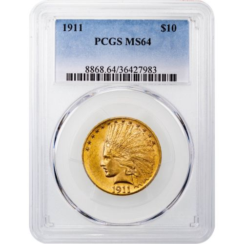 1911-P Indian Head Gold Eagle MS64