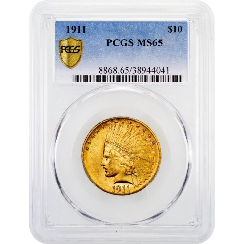 1911-P Indian Head Gold Eagle MS65