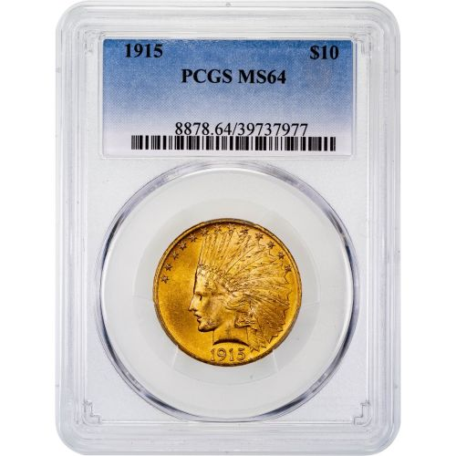 1915-P Indian Head Gold Eagle MS64