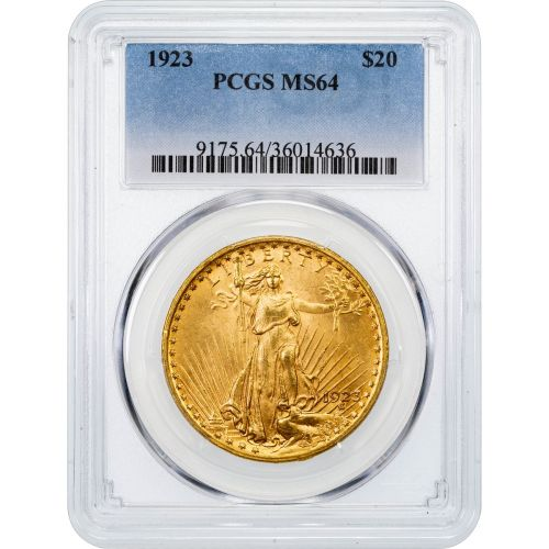 1923-P Saint-Gaudens Double Eagle MS64