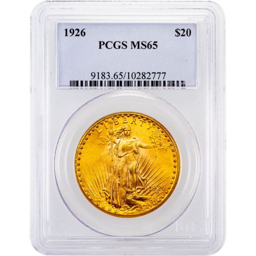 1926-P Saint-Gaudens Gold Double Eagle MS65