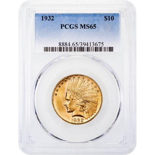 1932-P Indian Head Gold Eagle MS65