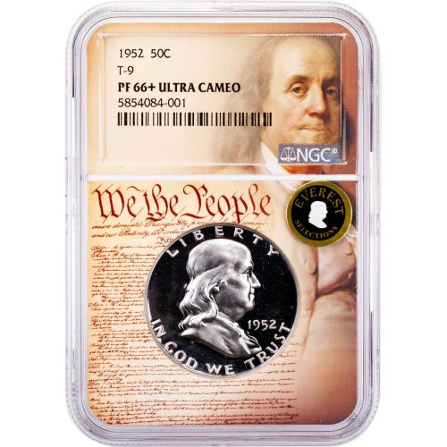 1952-P Franklin Half Dollar PF66+ Ultra Cameo Everest We The People Collection Label