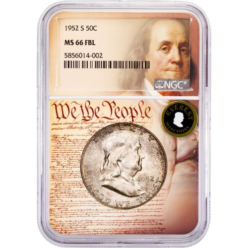 1952-S Franklin Half Dollar MS66 FBL Everest We The People Collection