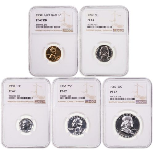 1960 Year Set NGC PF67