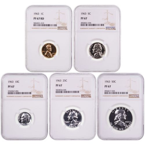 1963 Year Set NGC PF67