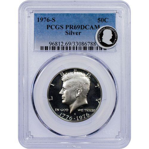 1976-S Silver Bicentennial Kennedy Half Dollar PR69 DCAM ECC
