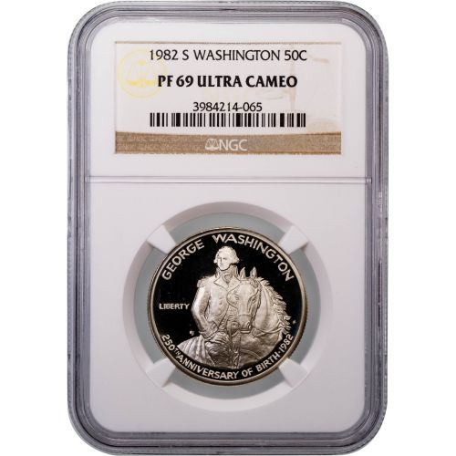 1982-S Washington Half Dollar PF69 Ultra Cameo