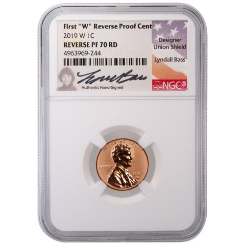 2019-W Reverse Proof Lincoln Cent PF70 RD