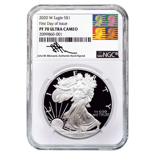 2020-W American Silver Eagle PF70 UCAM First Day of Issue