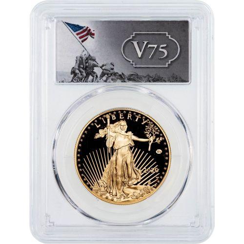 2020-W WWII 75th Anniversary Privy American Gold Eagle PF70 UCAM