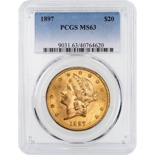 1897-P Liberty Head Gold Double Eagle NGC/PCGS MS63