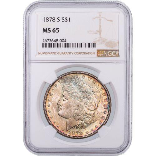 1878-S Morgan Dollar NGC MS65 Toned