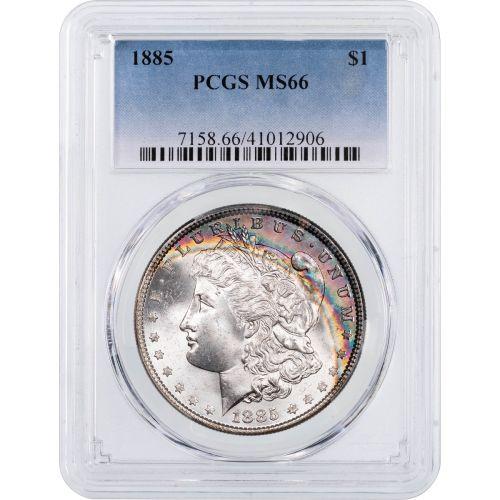 1885-P Morgan Dollar PCGS MS66 Toned