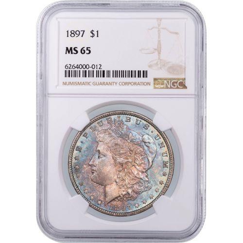 1897-P Morgan Dollar NGC MS65 Toned