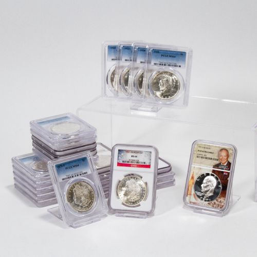 Set of 25: 1879-S - 1925-P Morgan and Peace Dollars NGC/PCGS MS64 and 1971-S Eisenhower Dollar NGC PF69