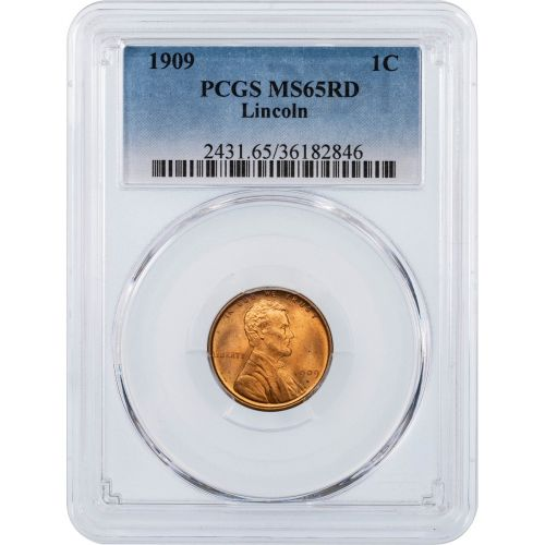 1909-P Lincoln Cent PCGS MS65 RD