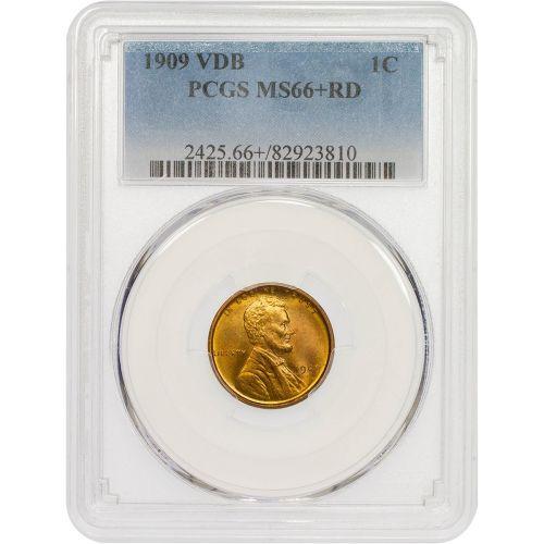 1909-P VDB Lincoln Cent NGC/PCGS MS66+ RD