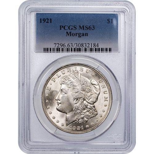 1921-P Morgan Dollar NGC/PCGS MS63