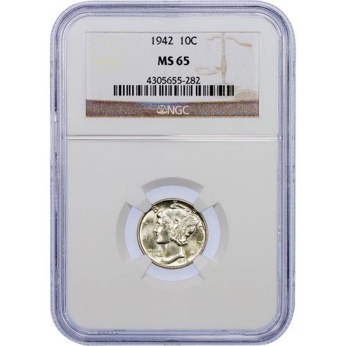 1942-P Mercury Dime MS65