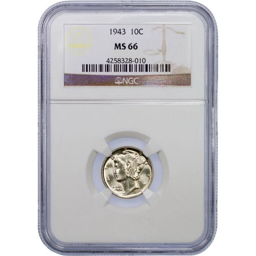 1943-P Mercury Dime MS66