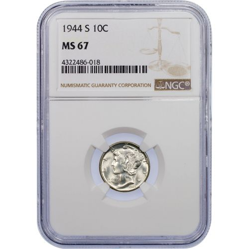 1944-S Mercury Dime MS67