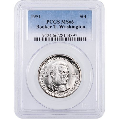1951 Booker T. Washington Commemorative Half Dollar NGC/PCGS MS66