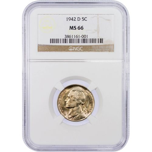 1942-D Jefferson Nickel MS66