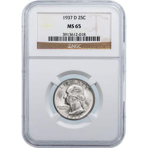 1937-D Washington Quarter NGC/PCGS MS65