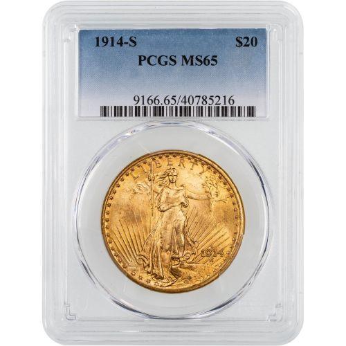 1914-S Saint-Gaudens Gold Double Eagle MS65