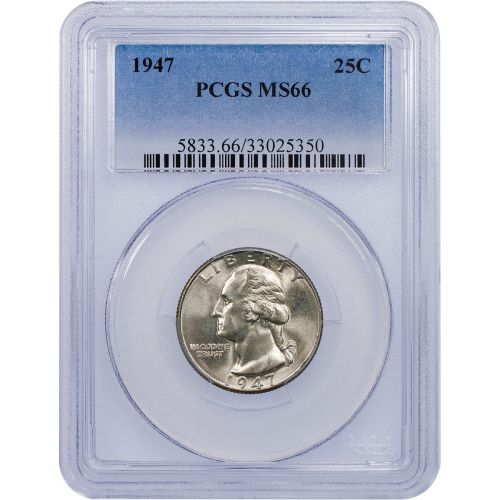 1947-P Washington Quarter MS66