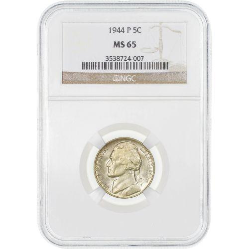 1944-P Jefferson Nickel MS65