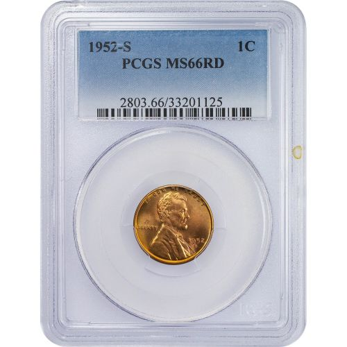 1952-S Lincoln Cent MS66RD