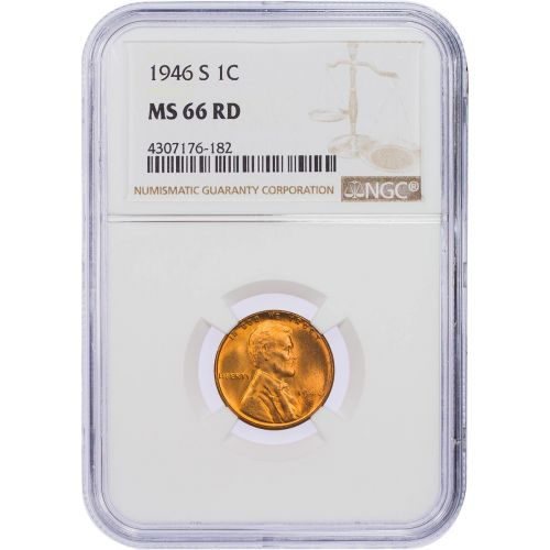 1946-S Lincoln Cent NGC MS66RD