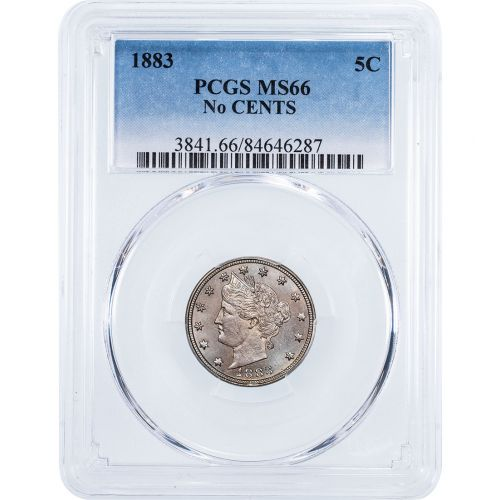 1883 No Cents Liberty Head Nickel NGC/PCGS MS66