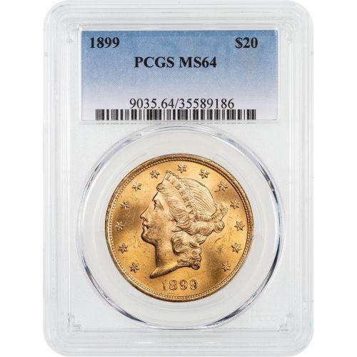 1899-P Liberty Head Gold Double Eagle NGC/PCGS MS64