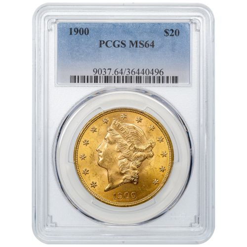 1900-P Liberty Head Gold Double Eagle MS64