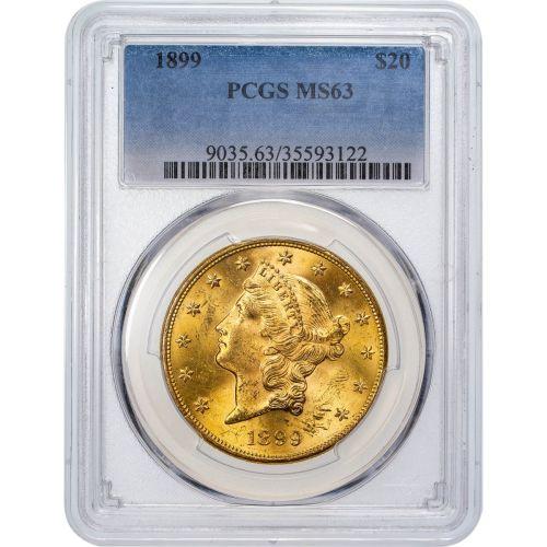 1899-P Liberty Head Gold Double Eagle NGC/PCGS MS63