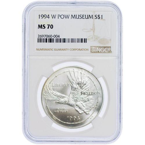 1994-W P.O.W. Commemorative Museum Dollar NGC MS70