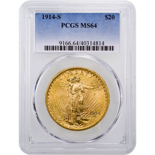 1914-S Saint-Gaudens Double Eagle MS64