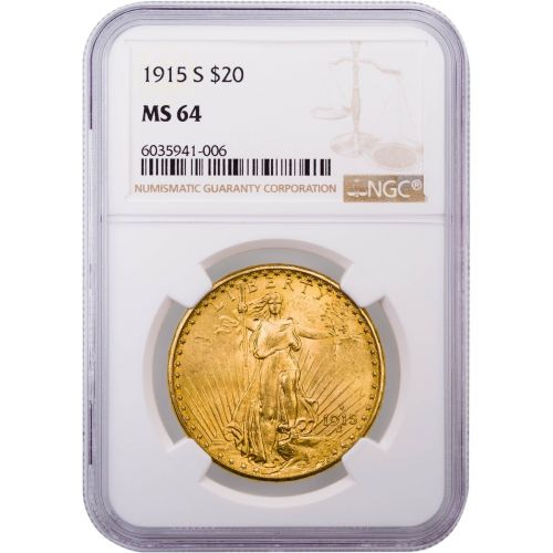 1915-S Saint-Gaudens Double Eagle MS64
