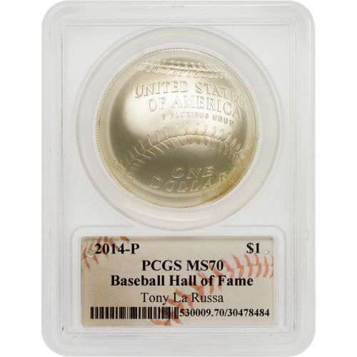 2014-P Tony La Russa Signed Baseball Hall of Fame Commemorative Coin PCGS MS70
