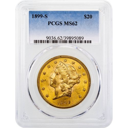 1899-S Liberty Head Gold Double Eagle MS62