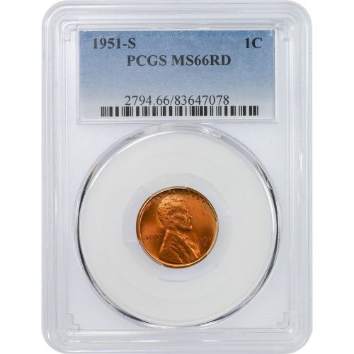 1951-S Lincoln Cent MS66RD