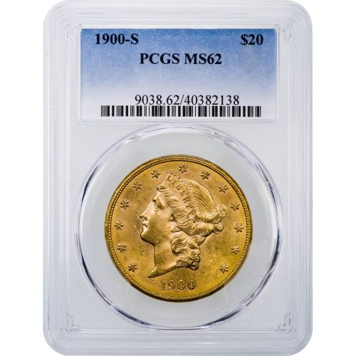 1900-S Liberty Head Gold Double Eagle MS62