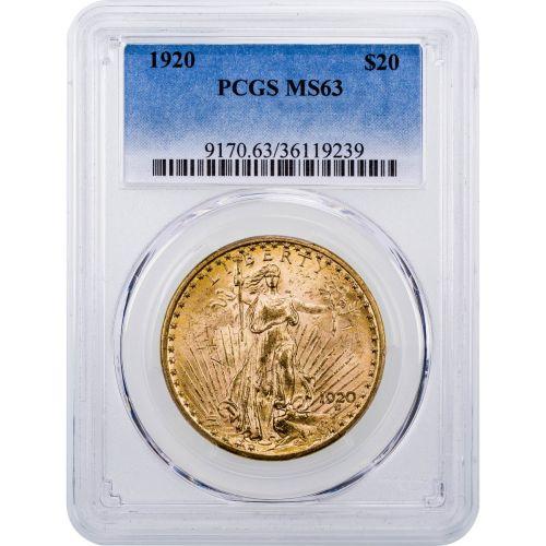 1920-P Saint-Gaudens Gold Double Eagle MS63