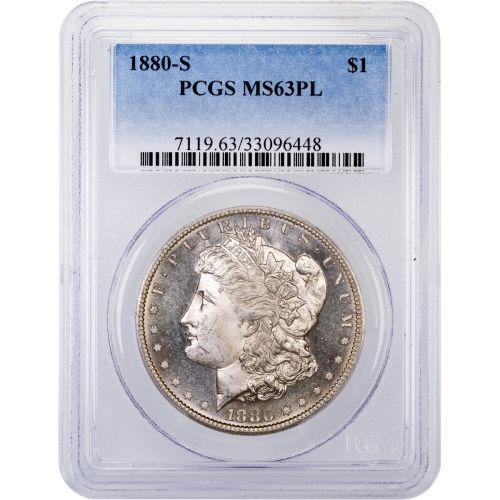 1880-S Morgan Dollar NGC MS63PL