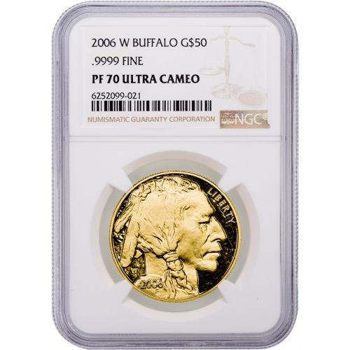 $50 2006-W 1oz. Gold American Buffalo NGC/PCGS PF70 UCAM