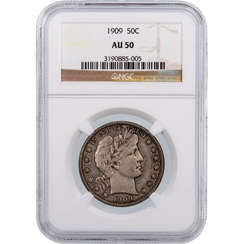 1909 Barber Half Dollar NGC AU50