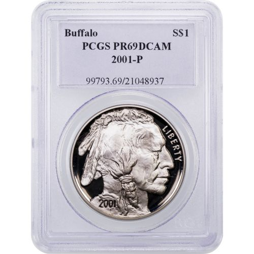 2001-P Modern Commemorative Buffalo Dollar PR69UCAM